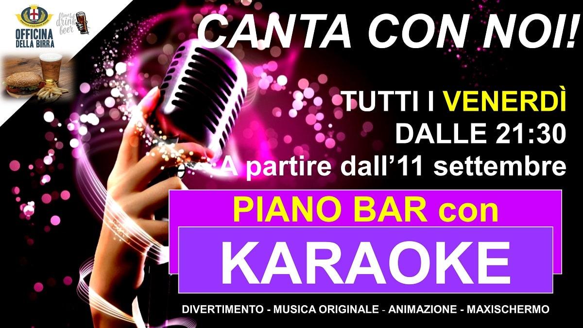 piano bar con karaoke